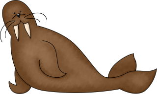 Brown Walrus Drawn Images PNG images