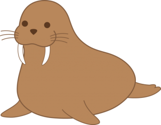 Brown Small Fat Walrus PNG images
