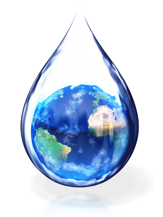 World In Water Drop PNG images