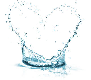 Water-made Heart Shape Png PNG images