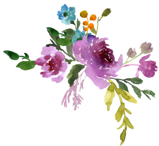 Watercolor Flowers Blue Png PNG images