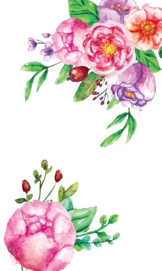 Watercolor Flowers Clipart PNG images