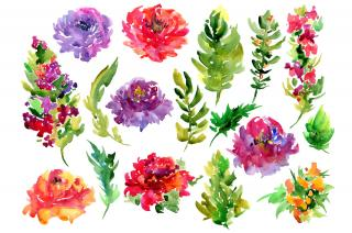 Watercolor Flowers PNG Image PNG images
