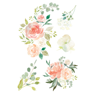Watercolor Flowers Vector Tattoo PNG images