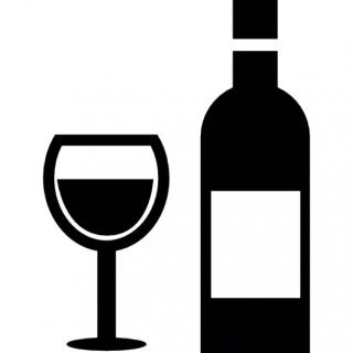 Glass And Bottle Wine Icon PNG images
