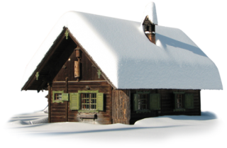 Transparent Winter House With Snow PNG PNG images