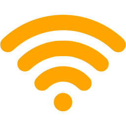 Orange Wireless Icon Png PNG images