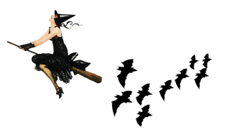 The Flying Witches And Birds, Halloween Png PNG images