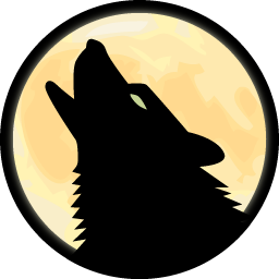 Howling Wolf Icon PNG images