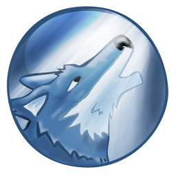 Wolf Icon Blue Moon PNG images