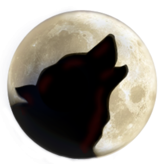 Wolf On Moon PNG images