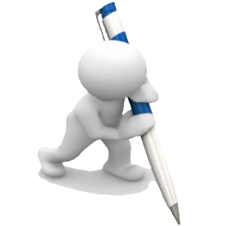 3d Man Writing Png PNG images
