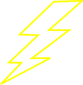 Yellow Lightning Electricity Bolt Thunder PNG images
