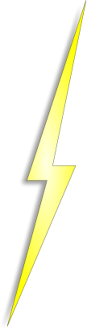 Yellow Lightning Electricity Bolt Thunder Lightning PNG images