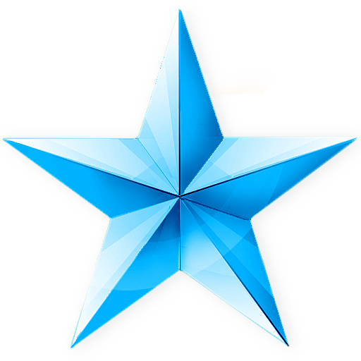 blue christmas star icon png