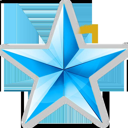蓝色的五角星 icon 超大精致2012圣诞节主题图标集