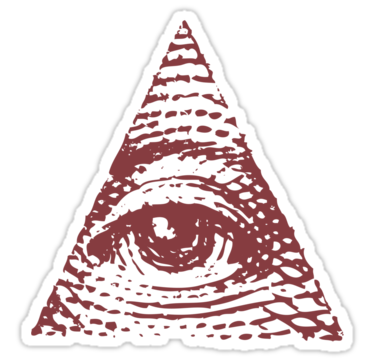 Burgundy Pyramid Eye Illuminati PNG Picture image #47709