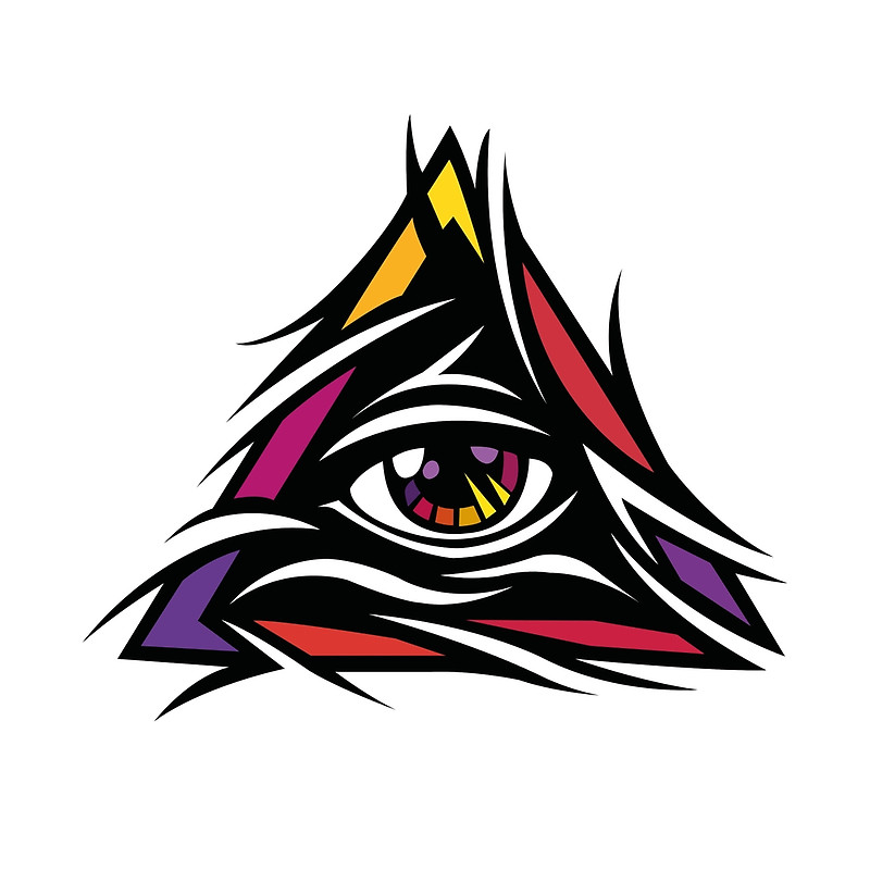 Eyes In Colorful Triangle Illuminati Photos image #47719