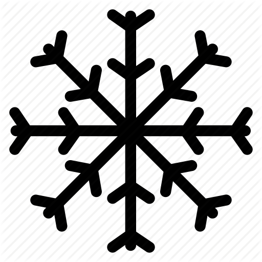Grid Ice Line Outline Shape Snow Snow Flakes White