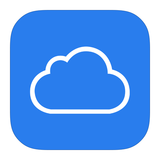 icloud storage icon less plans cloud drive email iphone apps Transparent Background