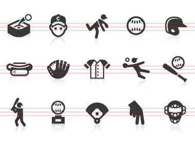 0123 Baseball Icons | Free Images At Clkerm   Vector Clip Art  image #391