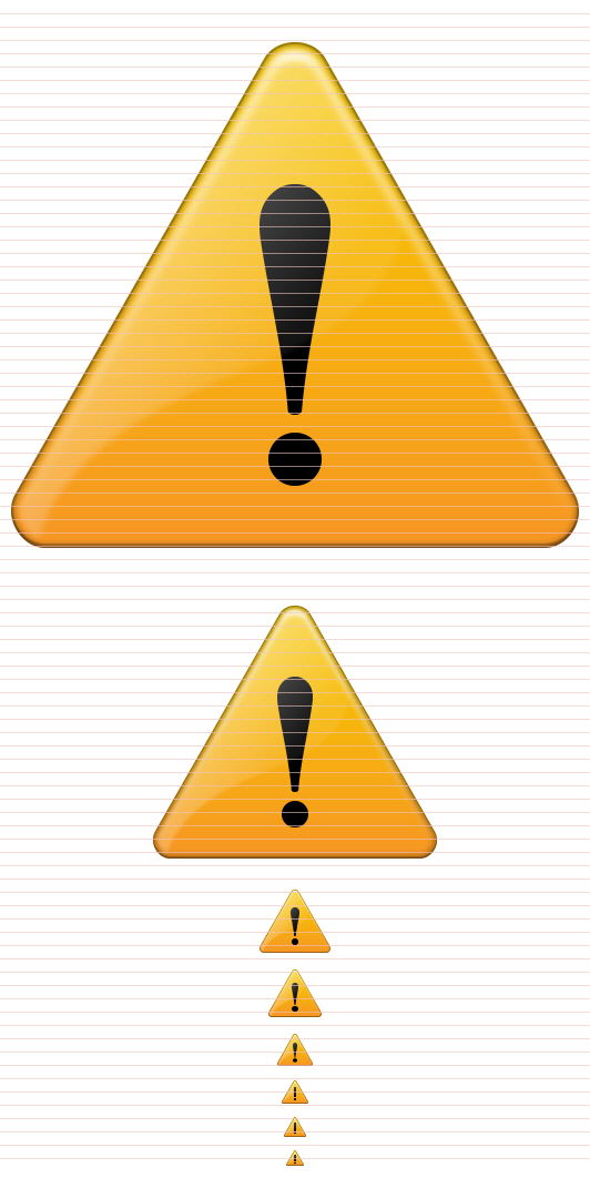 16x16 Warning Icon Download image #45604