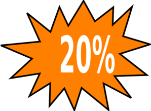 20% Off Png image #37408