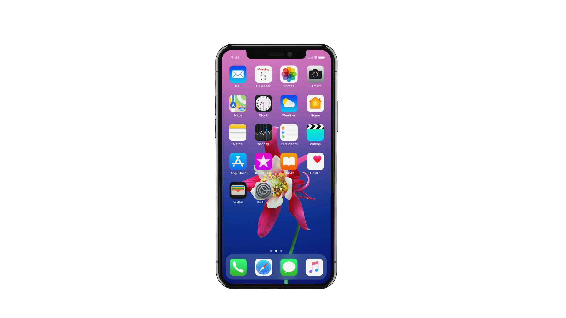 3D Apple iPhone X Image