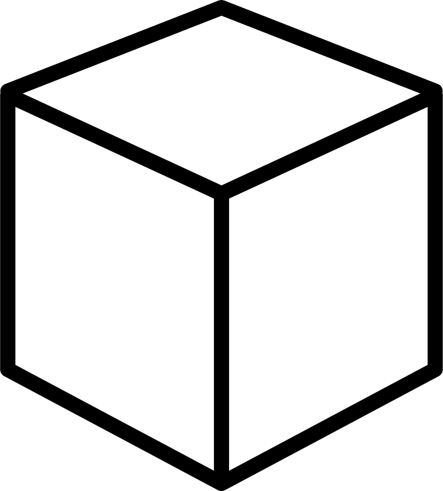 3d Cube Outline PNG Transparent Background, Free Download ...