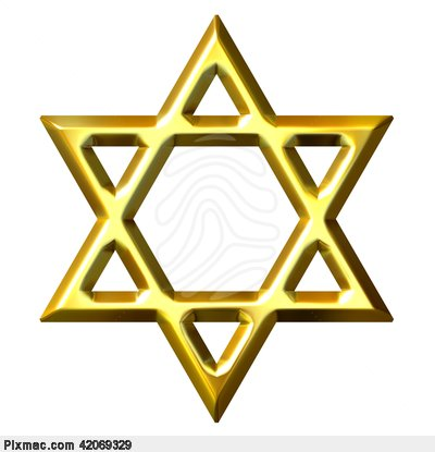 3d Golden Star Of David Star Icon image #3370