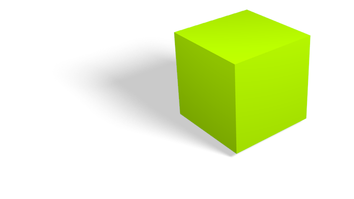 3D Green Cube Clipart image #47049
