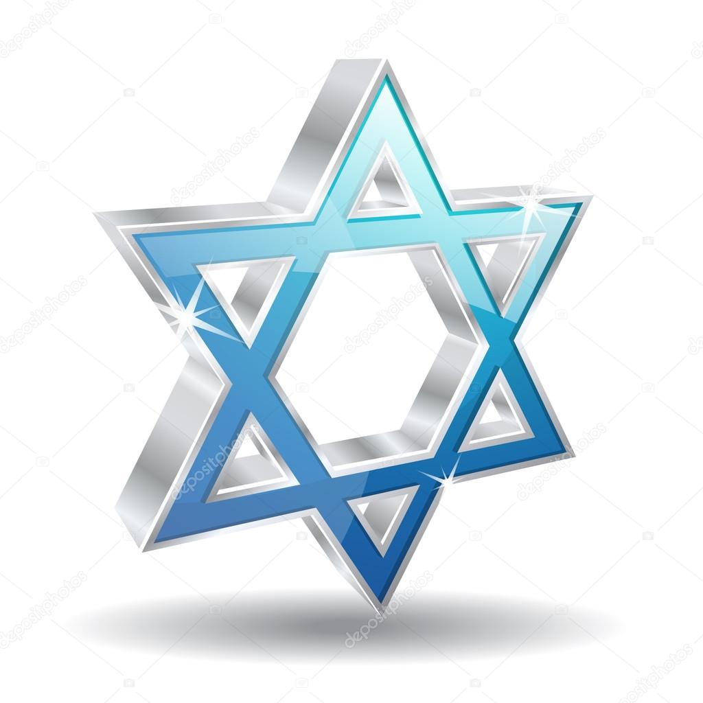 3d, Jewish, Judaism, Magen David, Religion, Star Icon image #43548