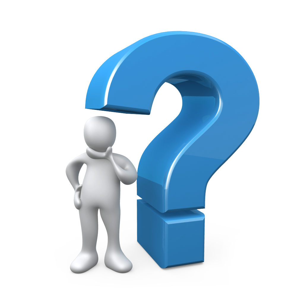 3d Question Mark Icon Blue Color Picture