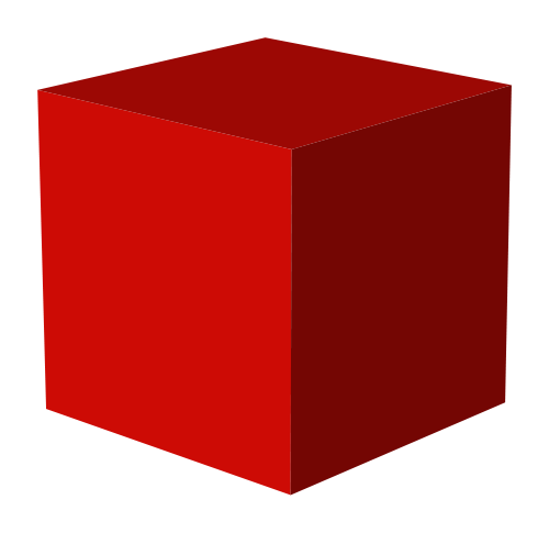 3D Red Rendering Cube PNG Clipart image #47032