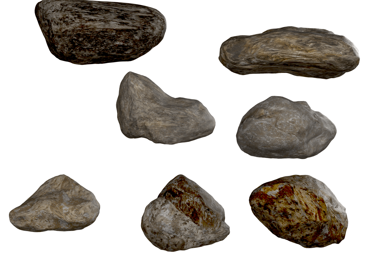 3d rock objects png