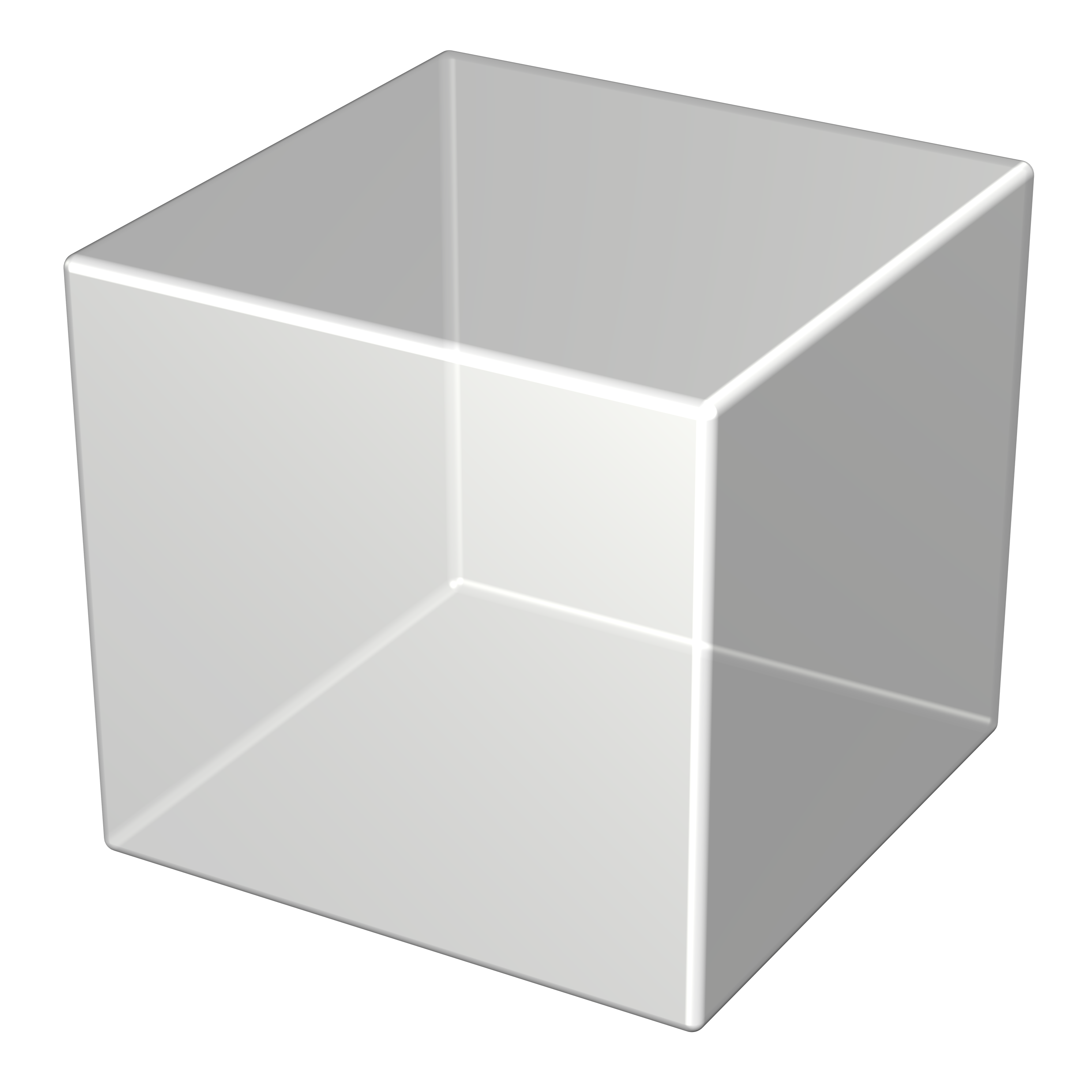 3D Silver Cube PNG Photo image #47031