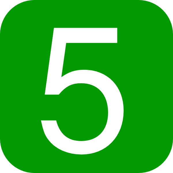 Number 5 Icon Vector image #24785