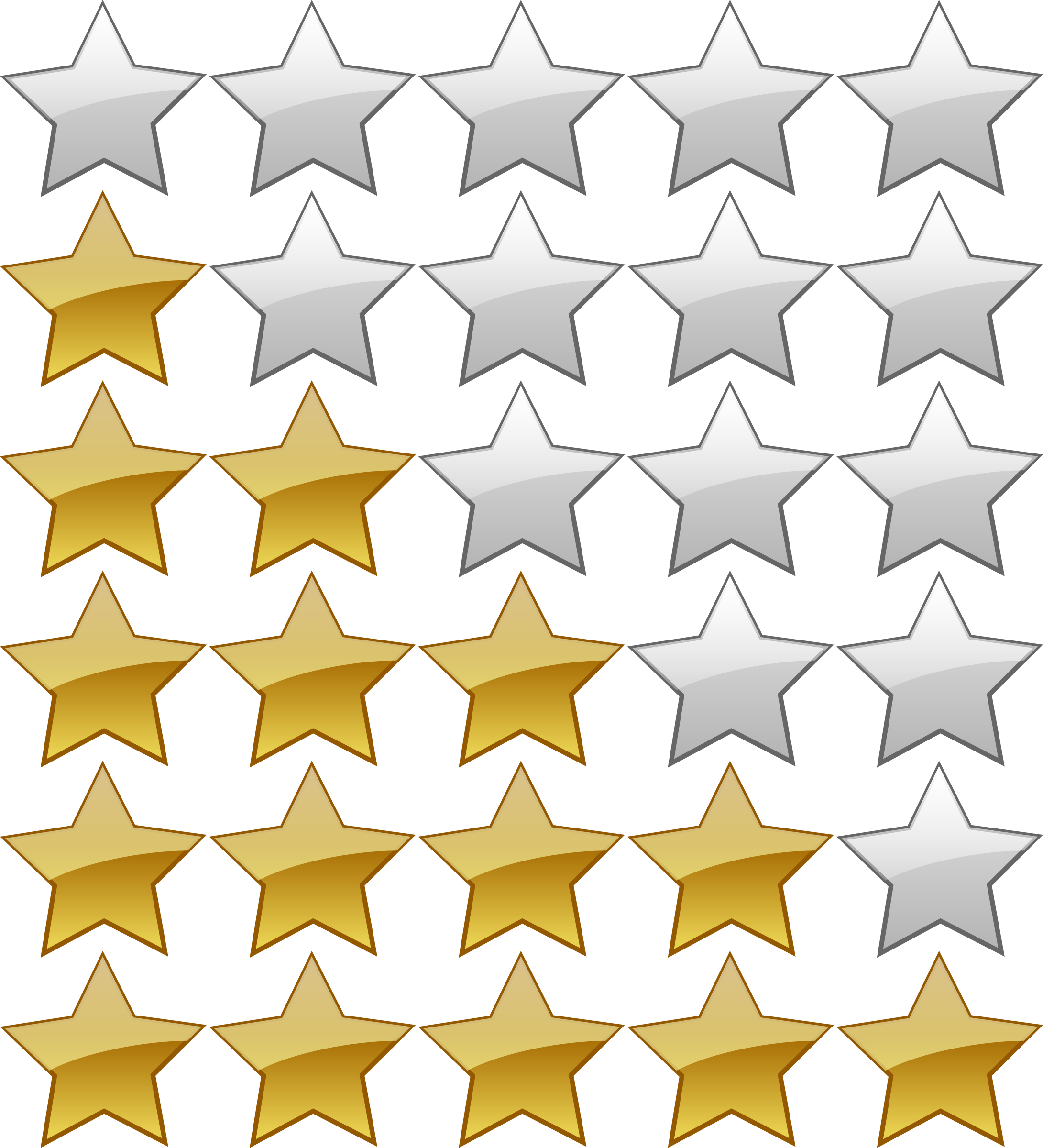 5 Star Rating Icon image #39814