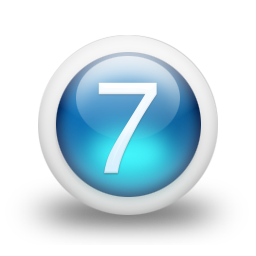 Transparent Number 7 Icon image #24840