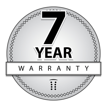 7 seven year warranty icon png
