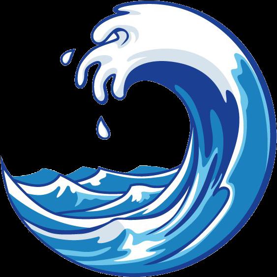 Abstract circle wave logo PNG Image