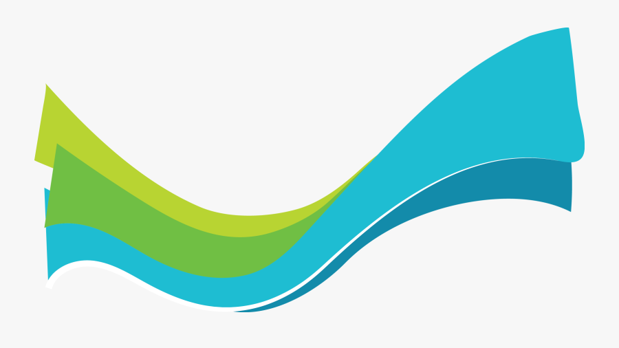 Abstract Green Blue Wave PNG Picture