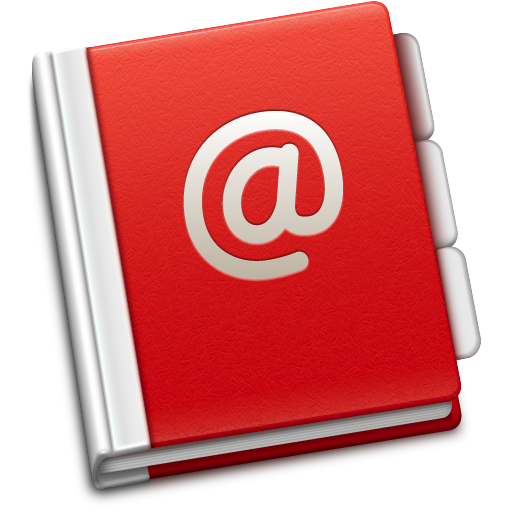 Address book Icon | Soda Red Iconset | TrySoda