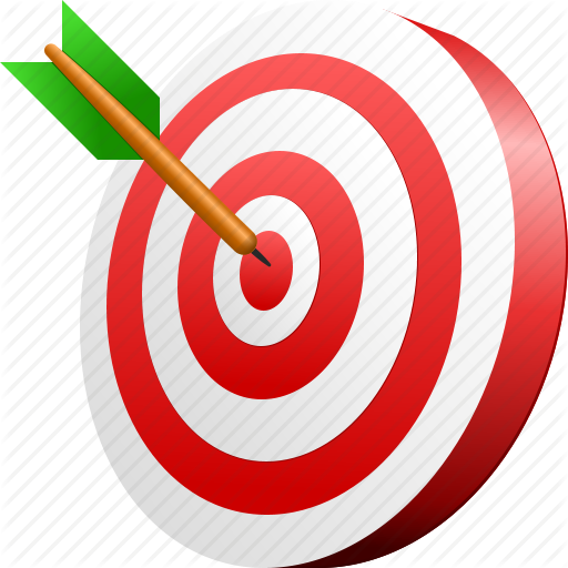 aim arrow goal target icon png transparent background free download 4526 freeiconspng aim arrow goal target icon png