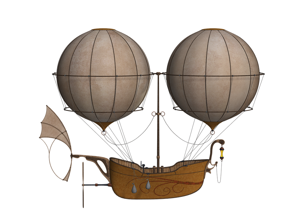 Air Balloon With Boat Flying PNG Pic image #46772