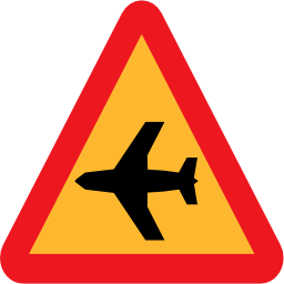 Airplane Roadsign Png Icon image #38523