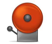 Transparent Alarm System Icon