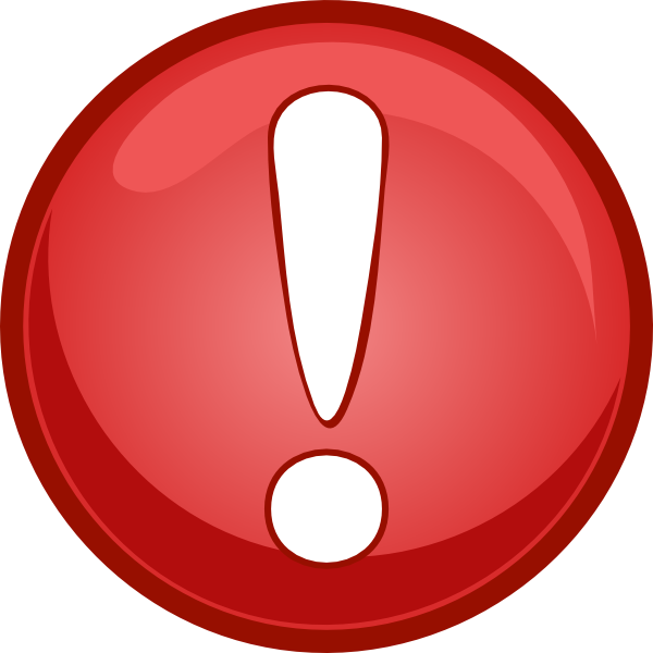 Alert Icon Red Clip Art , Royalty  image #1552