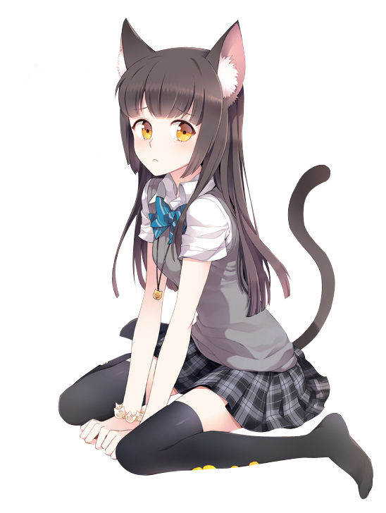 Anime Cat Girl download anime PNG images