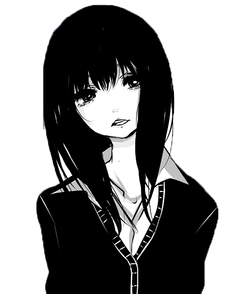 Anime png transparent png pictures free icons and png - Black and white anime pictures ...